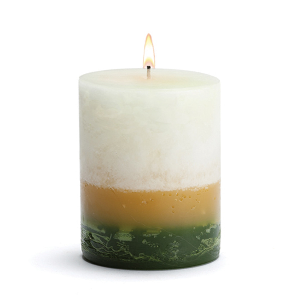 Scented Candle - Pillar Gardenia - 4x5 BURN TIME: 120 HOURS