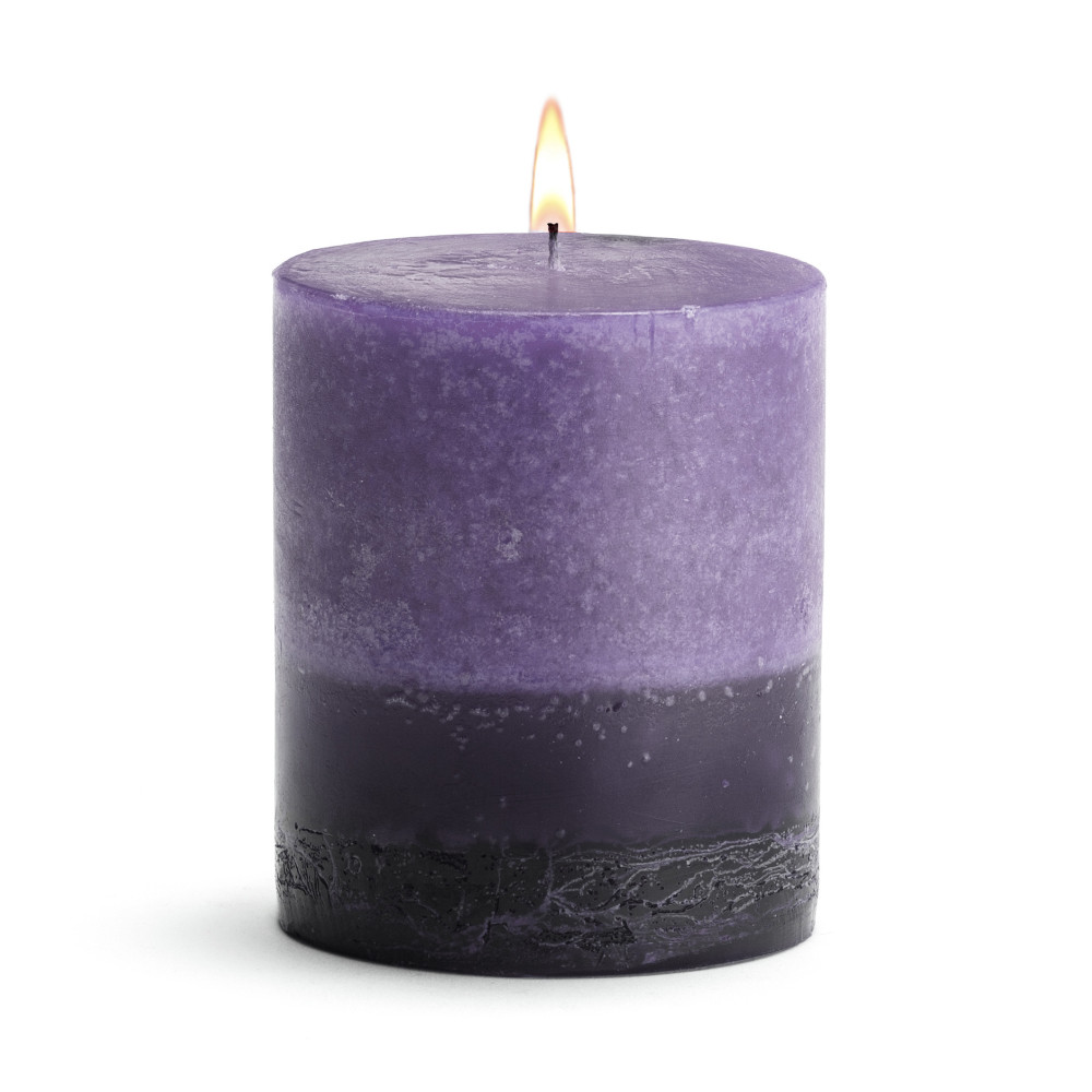 Scented Candle - Pillar Lavender - 3x3 BURN TIME: 50 HOURS