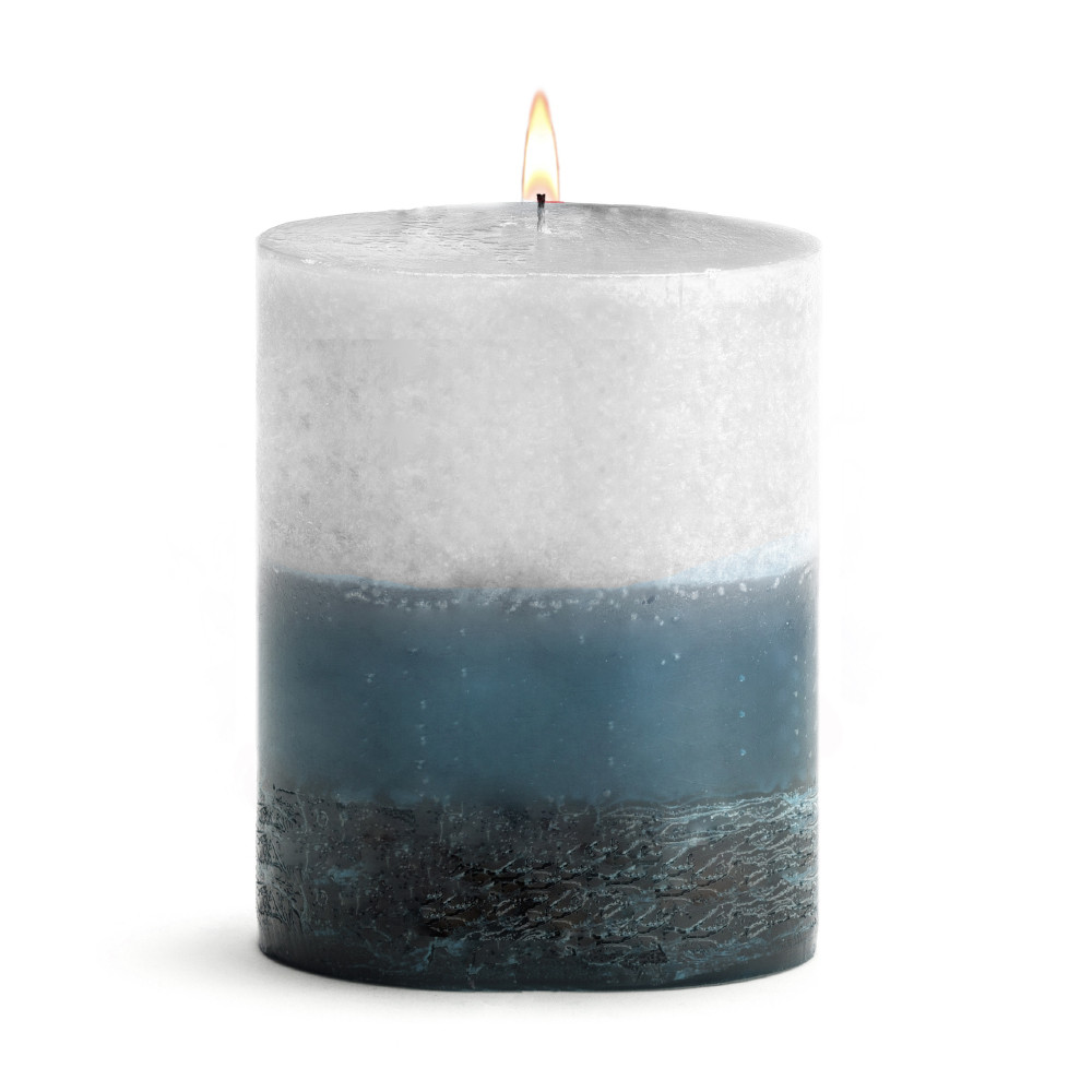 Scented Candle-Piillar Mer Du Corail - 4x5 BURN TIME: 120 HOURS