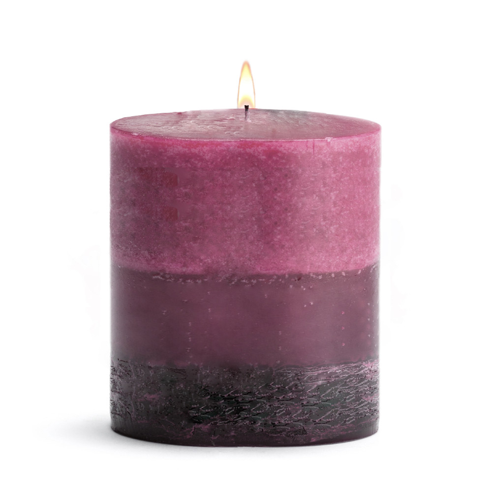 Scented Candle - Pillar Tuberose - 3x3 BURN TIME: 50 HOURS