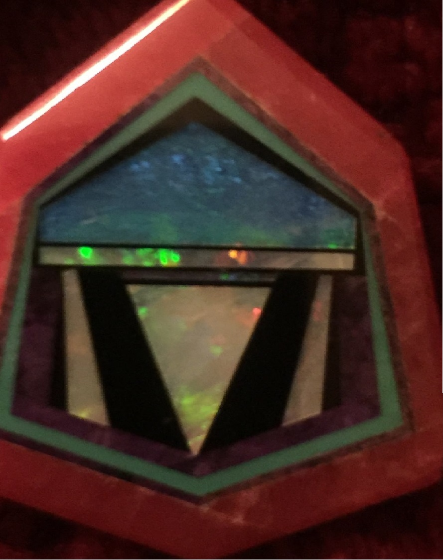 Gemstone Intarsia by James Kaufman - Rhodochrosite, Opal, Onyx